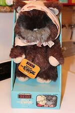 1984 vintage star wars return of the jedi paploo the ewok stuffed figure kenner