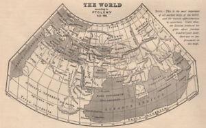 ANCIENT WORLD. World according to Ptolemy AD150. Sketch map. BARTHOLOMEW 1901