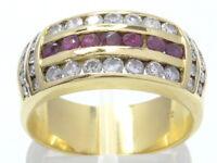 Goldring Ring 750 GOLD 18 Karat bague or Brillanten Diamanten Rubin rubis oro