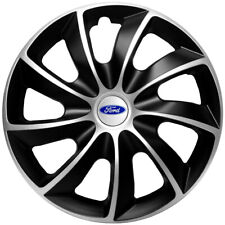 """15"""" Wheel trims fit Ford Focus Fiesta Connect Custom 4 x15 inches silver black"""