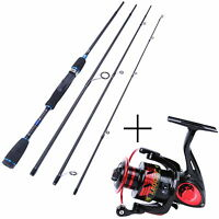 "Spinning Rod Combo 6'9"" Graphite Spinning Fishing Rod with X3000 Spinning Reel"