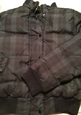 American Eagle Outfitters Woman's Ladies Puffer Coat Size Small Down Green Blue