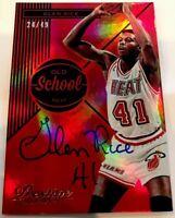 2014-15 Panini Prestige Premium NBA Glen Rice Old School Auto 24/49 Heat