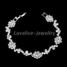 Bridal Sparkly Rhinestone Diamante Crystal Bangle Bracelet Women Wedding Gift