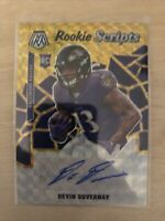 2020 Panini Mosaic Football Rookie Scripts Devin Duvernay Gold Prizm Auto RC