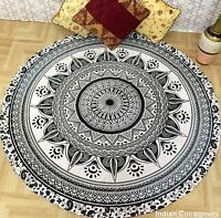 Roundie Hippie Round Mandala Tapestry Indian Wall Hanging Beach Towel Yoga Mat