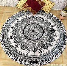 Roundie Hippie Round Mandala Tapestry Indian Wall Hanging Beach Towel Yoga Mat