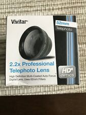 Vivitar 52mm 2.2x Professional Telephoto Lens For Hd Digital Video and Cameras