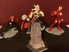 Disney Infinity 2.0 figures - Iron man, Thor, black widow and Play Set Crystal.