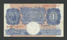 More details for bank of england peppiatt £1 blue wwii replacement b250 about vf banknotes