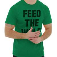Feed The Wolf Hangry Workout Fitness Gym Gift Mens T-Shirts T Shirts Tees Tshirt