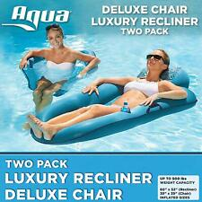 Pool Lounger Recliner With Deluxe Pool Chair Inflatable Pool Float Piscina