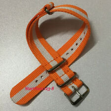 20mm orange white Nylon strap canvas casual fashion watch band P07