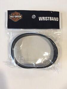 Bowker Harley Davidson Preston England UK Black Silicone Wristband Bracelet