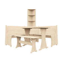 Corner Furniture Set Wooden Table Bench Seating Bookshelf Home - Dunster House