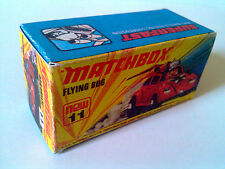 Boîte copie repro MATCHBOX Superfast N° 11 new Flying Bug ( reproduction box )