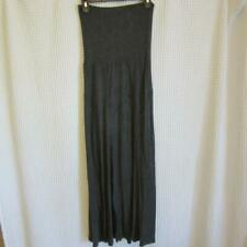 GORGEOUS & SOFT Lapis Gray Maxi Skirt sz M Medium 95% Rayon