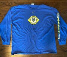 Nike Boca Juniors Long Sleeve T-shirt Size XXL
