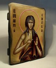 Handmade copy ancient ORTHODOX CHURCH ICON of St Mary of Egypt 152S