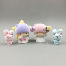 lot of 4 Cute Little Twin Stars Figures Play Toy Doll Cake Toppers Set 4-6cm A