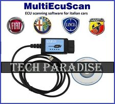 Cable Valise diagnostic ELM327 1.4 OBDII USB MultiEcuScan 3.9 Lancia Abarth Fiat