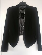L.A.M.B. Silk Tuxedo style Jacket - Black- Sz 6 - New With Tags