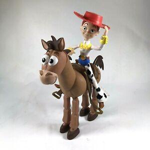 Mattel Disney Pixel Toy Story Jessie Bullseye Posable Action Figures Lot of 2