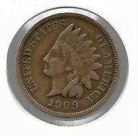 USA Rare Very Old Antique 1909 US Indian Head Penny Cent Collection Coin Lot i45