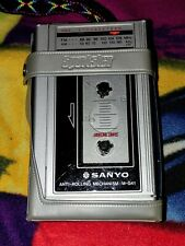 Sanyo M-G41 Fm/Am Cassette Walkman Player w/case-Working condition! Nice shape!