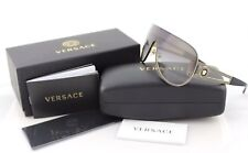 RARE NEW Genuine VERSACE Rock Icons Pale Gold Shield Sunglasses VE 2166 1252/8G