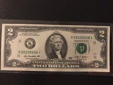 2009 (FW) $2 Dallas 'K' star note    CH-CU  US Paper Money Collectible