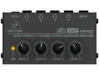 Behringer HA400 Micro Amplifier for Headphones con 4 Outputs Amplified