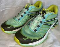 Salomon Wings Pro 2 Womens Sz 9 Trail Running Athletic Shoes Sneaker Blue Green