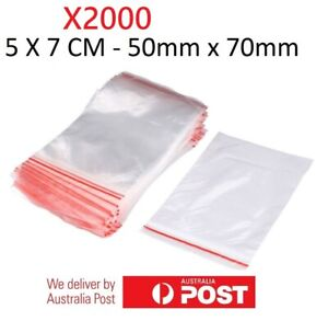 2000x Small Zip Lock Plastic Bags  Resealable Zipper New 5cmX7cm WHOLESALE BULK