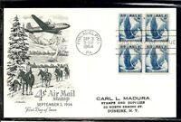 US SC # C48 Eagle in flight FDC. Artmaster Cachet.  Postcard.