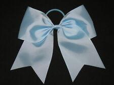 "NEW ""LIGHT BLUE"" Cheer Bow Pony Tail 3 Inch Ribbon Girls Hair Bows Cheerleading"
