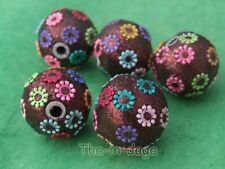Lot 5 Grosse Perles Ø=2,5 Loisir Créatif Artisanat Inde 1