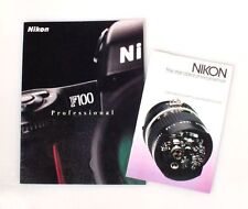 "NIKON ""THE STANDARD OF EXCELLENCE""   NIKON F100 PROFESSIONAL INFO BOOKLETS"