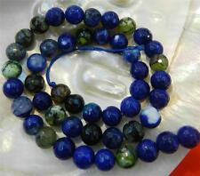 """8mm Faceted Blue Multicolor Dragon Veins Agate Gems Round Loose Beads 15"""""""