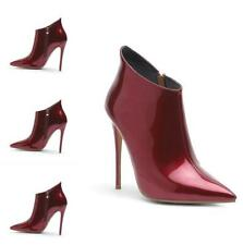 Sexy Womens Punk Ankle Boots Stiletto High Heel Pointy Toe Party Patent Leather