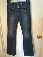 AMERICAN EAGLE Womens Artist Denim Jeans Boot Cut Stretch Size 2 REG INSEAM 32