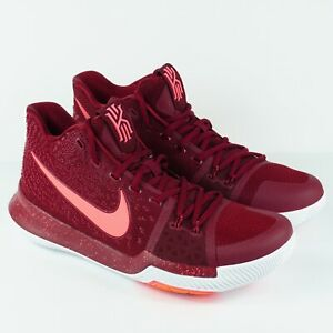"""NEW Nike Kyrie 3 """"Hot Punch"""" BASKETBALL SHOES 852395-681 Mens Size 10"""
