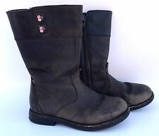CLARKS Girls Kids Brown Leather Boots Kids size 8