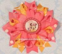 """Easter Hot Pink Turquoise Master Egg Hunter Bottle Cap Hair Bow 5/"""""""