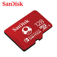 SanDisk 128GB MicroSDXC for Nintendo Switch UHS-I U3 100MB/s Card + Tracking