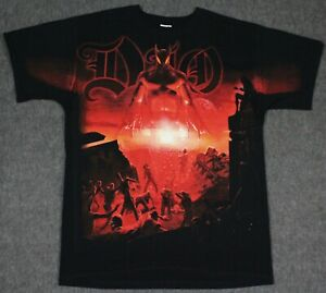 NEW DIO Last In Line All Over Print T-Shirt Large Metal Tour Concert Band