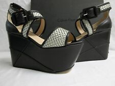 Calvin Klein Collection Size 9 M Pauline Black Metallic Wedges Womens Shoes
