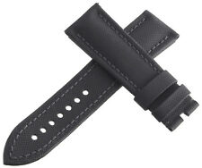 Authentic Blancpain 23x 20mm Black Fabric Watch Band Strap New