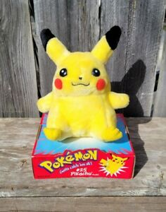Official Nintendo Pokemon Pikachu Plush 1998 Hasbro #25
