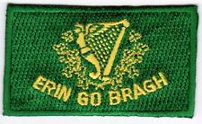 Erin Go Bragh Ireland Flag Patch Embroidered Iron On Applique Irish